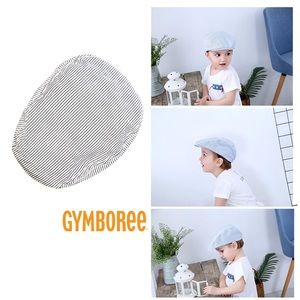 NWT Gymboree Newsboy Flat Striped Cap Hat 12-24mo